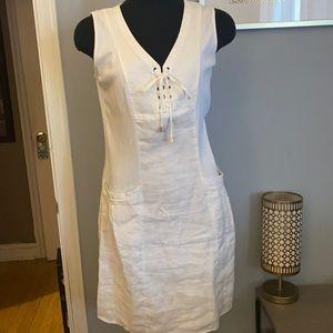 White 100% cotton sun dress